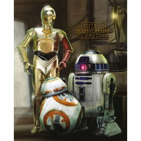 Poster Droidi C3-PO R2-D2 BB-8 Star Wars