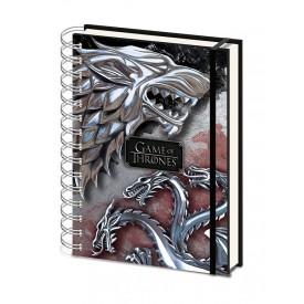 Block-Notes Game of Thrones Stark Targaryen Con Elastico