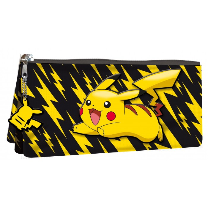 Astuccio Bustina 3 Scomparti Pikachu Pokémon