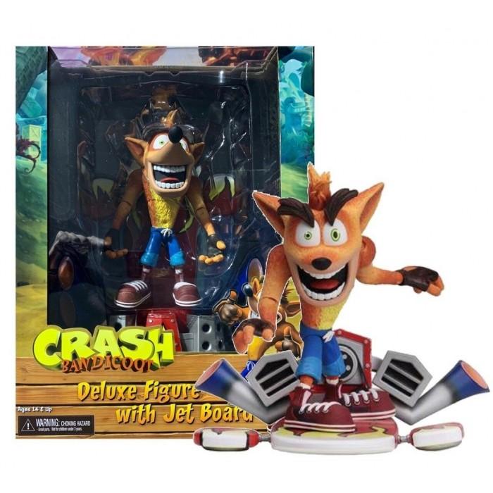 Action Figure Deluxe NECA Crash Bandicoot with Jet Board