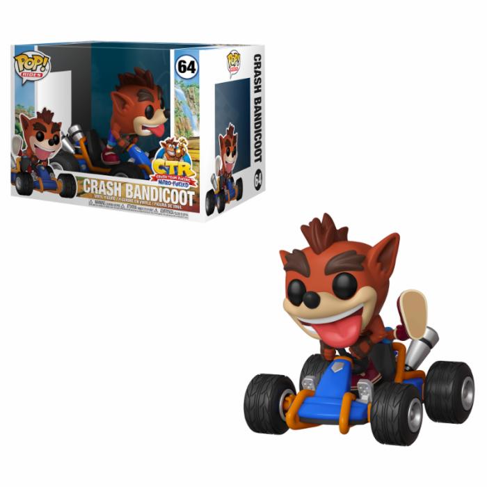 Funko Pop! Rides Figure Crash Bandicoot Crash Team Racing