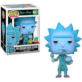 Funko Pop! Funko Shop Exclusive Hologram Rick Clone (GITD) Rick & Morty