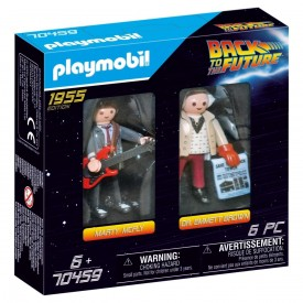 Playmobil Set Ritorno al Futuro Marty e Doc 1955