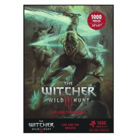 Puzzle Ciri and The Wolves The Witcher 3 Wild Hunt 1000 Pz.