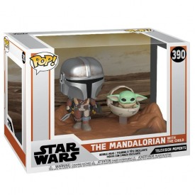 Funko Pop! Figure Mandalorian with The Child Movie Moments Mandalorian