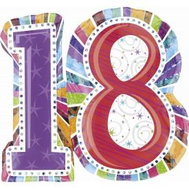 Palloncini Numero 18 Diciottesimo Compleanno 66x71 cm