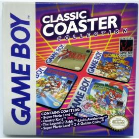 Set 4 Sottobicchieri Game Boy Zelda Donkey Kong Super Mario Classic