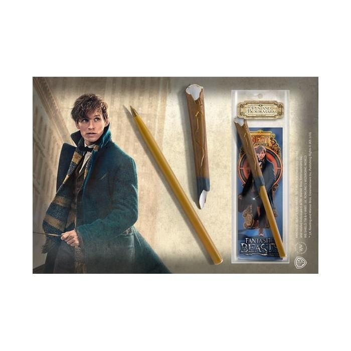 Penna e Segnalibro Bacchetta Newt Scamander Fantastic Beasts