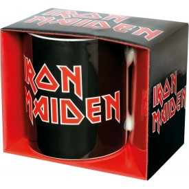 Tazza Black Mug Iron Maiden Red Logo